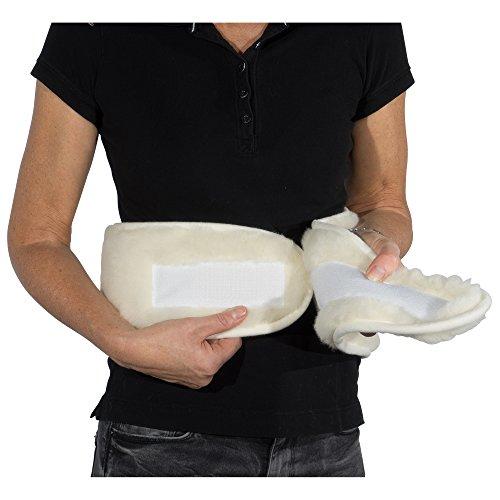 Selfitex Nierenwärmer aus 100{fb9f24655eba72dff6adf209af0de50d3b5952a9336716307b88343a84520550} Merino-Wolle, angenehm weicher Rückenwärmer, Wärmegürtel, spendet wohltuende Wärme an kalten Wintertagen, zum Schutz vor Kälte und Zugluft im Lendenbereich, 130x20 cm