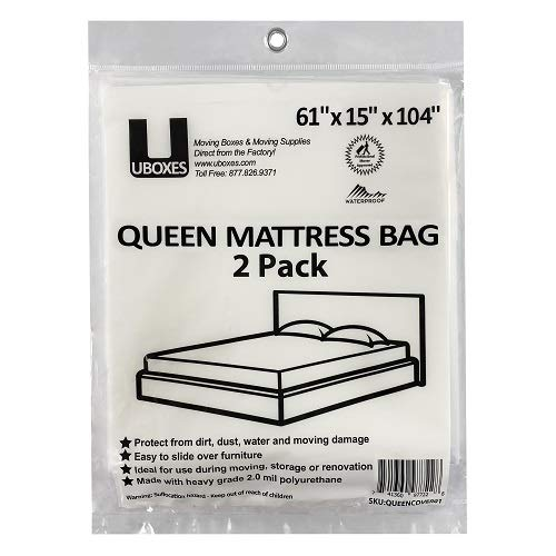UBoxes Queen Mattress Moving Cover, 2 Pack Missouri