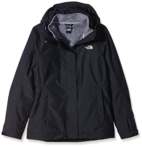 The North Face W Zephyr Tri Jkt Chaqueta-Mujer, Negro/Gris, S