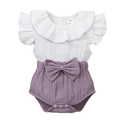Conjunto de ropa para bebé con volantes y flores de girasol, conjunto de ropa de bebé + culottes y tirantes y volantes para recién nacidos 2 blancos. M