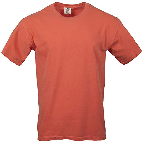 Comfort Colors Men's Adult Short Sleeve Tee, Style 1717, Bright Salmon, Small