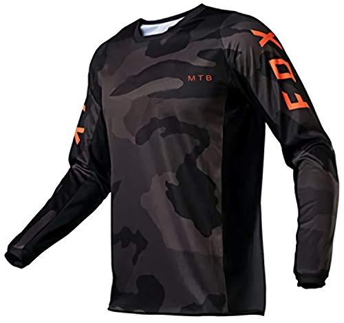 MTB Jersey Fox Camiseta De Manga Larga Maillot Ciclismo Hombre MTB Motocross...