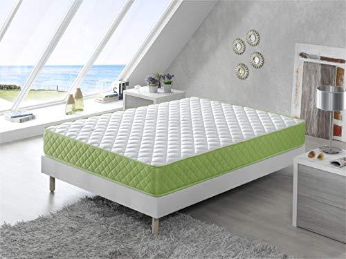 Bellavista Home Matratze Formentera 16 cm Höhe 135x190x16 cm. Memory Foam & Aloevera, Wellness Kaltschaummatratze - Härtegrad H2 & H3