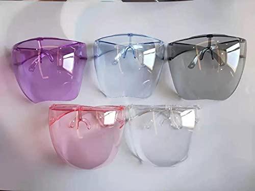 WQZYY&ASDCD Gafas de Sol Nuevas Gafas De Seguridad Facial, Deportes Al Aire Libre, Hombres Y Mujeres,Protección contra Salpicaduras De Viento, Montura De Una Pieza, Gafas De Sol-E24