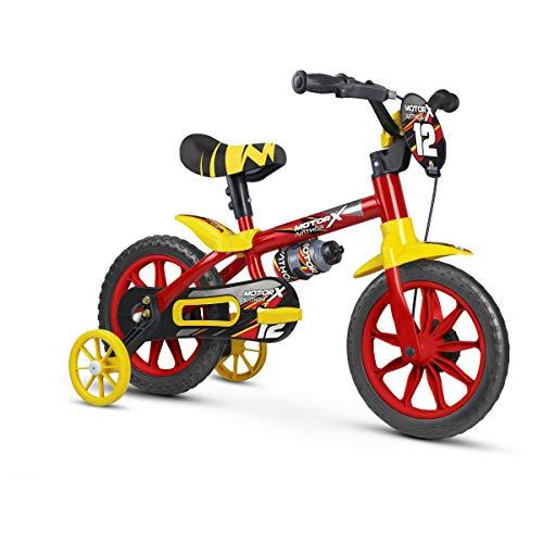 Bicicleta Infantil Aro 12 Motor X PU com Rodinhas, Nathor