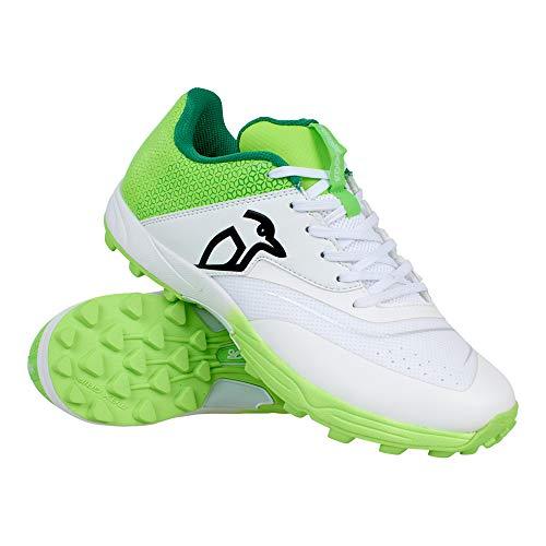 Kookaburra Kc 2.0, Unisex Cricket Spike Schuhe, Unisex, Cricket-Schuhe mit Gummisohle, 3R202309, Weiß/Limette, 43