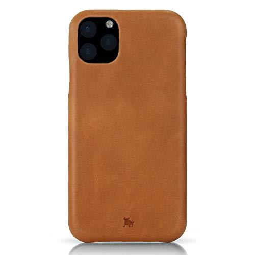 BULLAZO Menor Classic – kompatibel mit iPhone 11 Case Schutzhülle Handy Hülle aus hochwertigem Leder iPhone XI Hellbraun