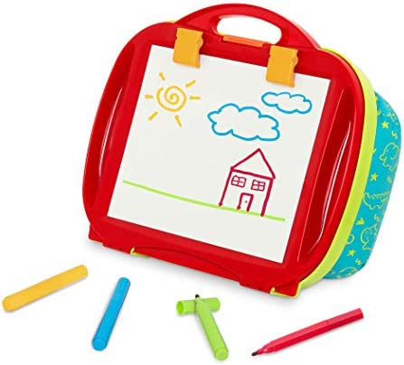 Battat Lap Drawing Magnetic Board Portable Drawing Pad Easel for Kids Draw Doodle Includes 4 product image