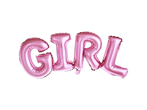 Folie Ballon Lettering Meisje of Jongen voor Baby Douche Geslacht Openbaring Feestfeest, 74x33cm, Roze of Blauw Meisje