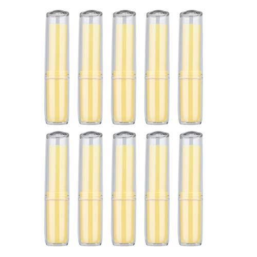 Minkissy 10pcs vide baume à lèvres conteneurs tubes conteneurs brillant à lèvres conteneur de stockage rechargeable récipients de rouge à lèvres