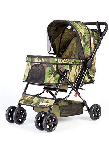 ピッコロカーネ PRIMO | DG602 | レインカバー付属版 | 迷彩色 | 耐荷重25kg | NUOVO 折畳式 犬用 ペットカート プリモ