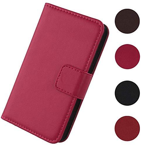 Lankashi Flip Premium Echt Leder Tasche Hülle Für Wiko Y60 5.45