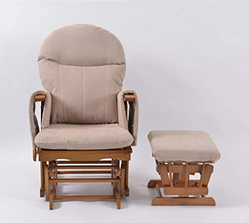 Habebe Glider Rocking Nursing Recliner Chair with footstool & Washable Covers