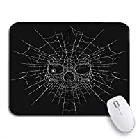 Mabby マウスマット - 240 x 200mm,Skull Spider Pattern Body Death Black Cartoon Celebration Dead,for Office and Gaming,コンピュータマウスパッド滑り止めラバーベース