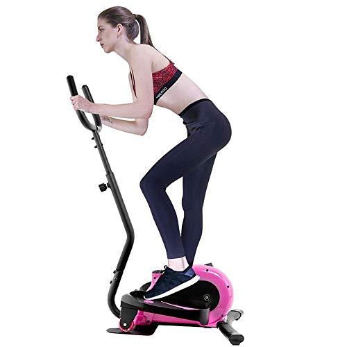 ZAIHW Máquina elíptica, Portátil Elíptica con Pantalla Digital, facilitar el Movimiento de Las Ruedas de Entrenamiento, Fitness