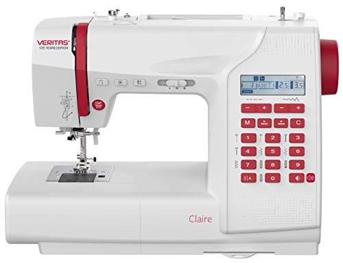 VERITAS Claire - Máquina de coser (197 programas, función de memoria, pantalla LCD, luz de costura LED, con alfabeto y números, edición de 125 años de aniversario)