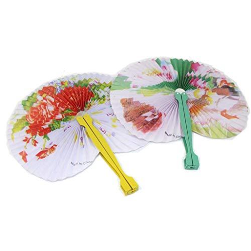 JMAR Mujeres Japonesas Antiguo Lindo Abanico Plegable Abanicos de Mano Abanicos de Mano Chinos De Madera para Mujeres
