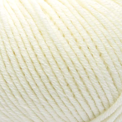 ggh Maxima, Farbe:001 - Wollweiß, 100% Merinowolle (Mulesing Free), 50g Wolle als Knäuel, Lauflänge ca.110 m, Verbrauch 550g, Nadelstärke 4-5, Wolle zum Stricken und Häkeln