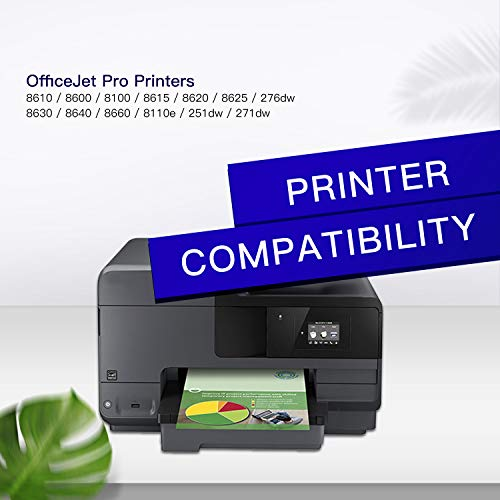 GPC Image Remanufactured Ink Cartridge Replacement for HP 950XL 951XL 950 951 to use with OfficeJet Pro 8600 8610 8615 8100 8620 8630 8640 8625 251dw 271dw 276dw Printer (Black, Cyan, Magenta, Yellow) Photo #3
