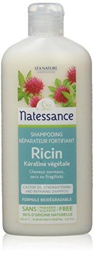 NATESSANCE Shampooing Réparateur Fortifiant Ricin/Kératine Végétale 250 ml - Lot de 2