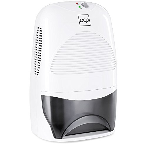 Best Choice Products Portable Mid-Size Thermo-Electric Dehumidifier for 2,200 Cubic Ft Room, Basement, RV, Bathroom w/ 2L/67.6oz Capacity Tank, White
