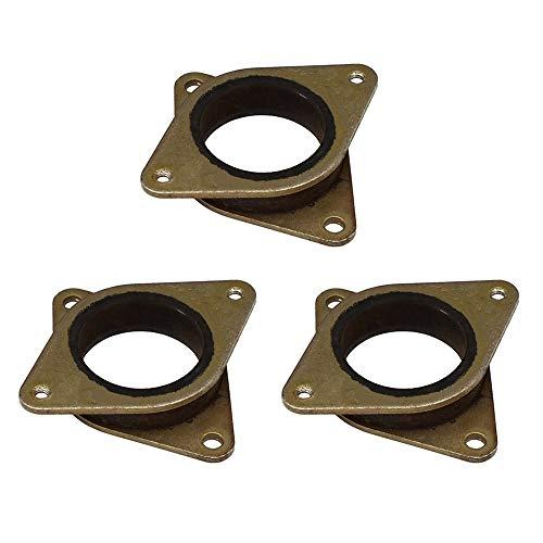 Huture 3PCS NEMA 17 Motore passo Vibrazione Gomma acciaio 23 Smorzatore vibrazioni con vite M3 per 42 40 motori Creality Ender 3/CR-10/10S/stampante 3D/fai da te CNC Mahine Accessori