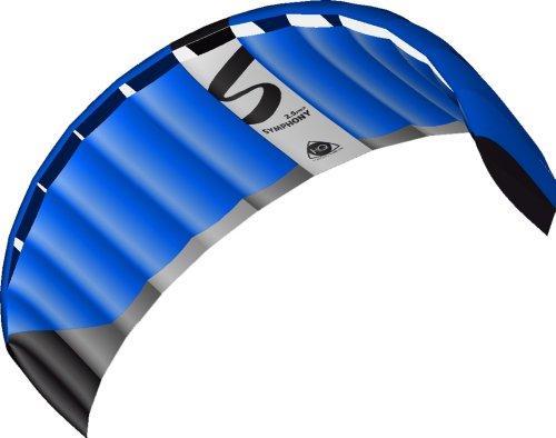 HQ Lenkdrachen Lenkmatte Drachen Symphony Pro 2.5 Neon Blue Kite Limited Edition