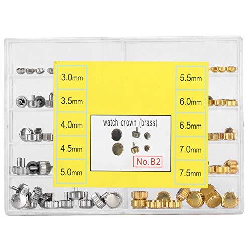 Repuestos de coronas de relojes, piezas de coronas de relojes Juego de coronas de relojes Impermeables Piezas de coronas de relojes Accesorios de repuesto Práctico juego de herramientas de 3,0-7,5 mm