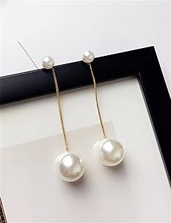 Creative Lady Exaggerated Size Pearl Earrings earings Dangler Eardrop Unique Fashion Long Tassel Ear Jewelry Women Girls pop