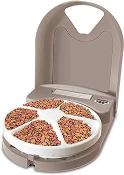 PetSafe - Distributeur de Nourriture et Croquettes Automatique Eatwell 5 Repas pour Animaux, Chiens et Chats - Programmable - Ecran LCD - Sans BPA