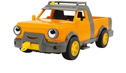 Dickie Toys 203134003 Bob der Baumeister Hubi Spielset Spielzeugauto mit Freilauf und Sprachausgabe, Orange