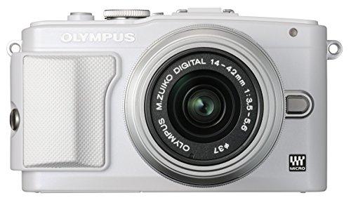 Olympus Pen E-PL6 Systemkamera (16 Megapixel, 7,6 cm (3 Zoll) Touchscreen, bildstabilisiert) Kit inkl. 14-42 mm Objekitv weiß