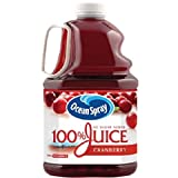 Ocean Spray 100% juice with no sugar added. Ocean Spray cranberry juice supplies 100% of the recommended daily amount of vitamin C Rich in antioxidants, vitamins and minerals. Cranberry juice offers health benefits, including relief from respiratory ...
