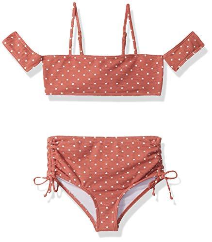 BILLABONG Mädchen Dot Daze Off Shoulder Two Piece Swim Bikini-Set, Coco Bliss, 6X