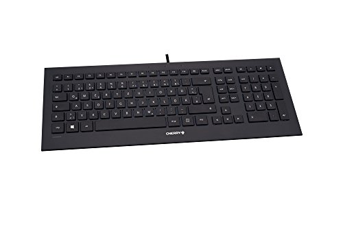 CHERRY Strait Black Corded Keyboard (DE) USB ultraflach Black