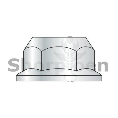 M12-1.75 Din 6923 Metric Class 10 Hex Flange Nut Non Serrated Zinc ROHS (Pack Qty 500) BC-M12D6923-10 By Shorpioen