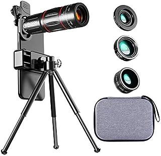 ZZZL Hd Mobile Phone Lens, 28x Long Focal Length Telescope + 0.6X Wide Angle + 20x Macro + 198° Fisheye Setting Hd Externa...