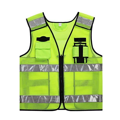 GYZ Warnweste Außen Bauservice Straßenverwaltung Duty-Weste Nacht Reiten oder Fahren Rennen Warnweste Sicherheitsweste (Size : M)