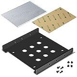 Akineko 2.5インチ→3.5インチSSD/HHD用変換ブラケット【2.5インチssd用ヒートシンク / アルミニウム製/無痕テープ付き/ネジセット付き】豊富な所属品+安心の18ヶ月保証