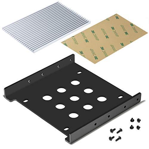 Akineko 2.5インチ→3.5インチSSD HHD用変換ブラケット 2.5インチssd用ヒートシンク 放熱シリコーンパッド SATA3.0ケーブル ネジセット付き 豊富な所属品+安心の18ヶ月保証