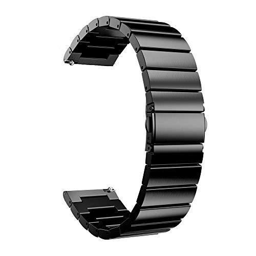 DFKai1run Correa de acero inoxidable, 20mm 22mm Banda De Reloj De La Correa De Acero Inoxidable De Reemplazo Inteligente Acoplamiento Del Reloj Pulsera For Samsung S2 Engranaje Clásico Galaxy S3 Reloj