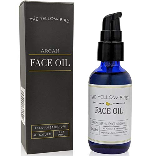 Argan Face Oil Cleanser. Moisturizing Anti Aging Natural & Organic Facial Serum for Acne, Spots, Scars, and Wrinkles. Hydrating Botanic Blend for Youthful Glow. Made in the USA.