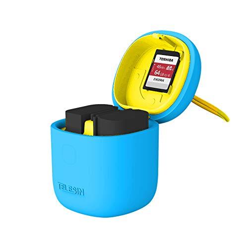 TELESIN 3 in 1 ALLIN BOX LP-E6 (Blau-BOX con 2pz LP-E6 BATTERIA)