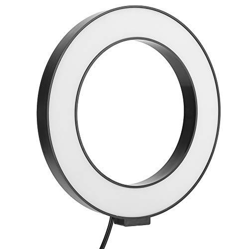 Nicoone Anillo de Luz Led Lámpara de Luz de Relleno Equipo Fotográfico para Teléfono Transmisión en Vivo Selfie 16Cm