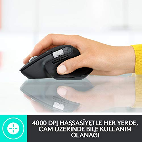 Logitech MX Master 3 Advanced Maus – Schwarz – Business Edition [Dual Connect, 2,4GHz & Bluetooth] - 5