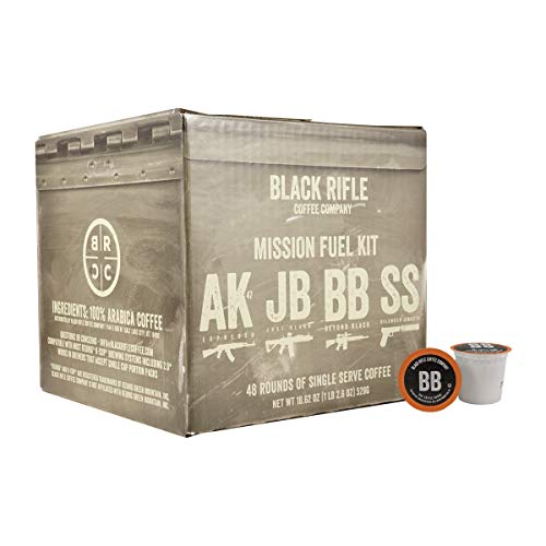 Black Rifle Coffee Company Supply Drop Variety Pack Coffee Rounds | 48 Count K Cup Compatible Variety Pack Coffee Pods for Single Serve Coffee | Compatible with Keurig | Perfect Coffee Lovers