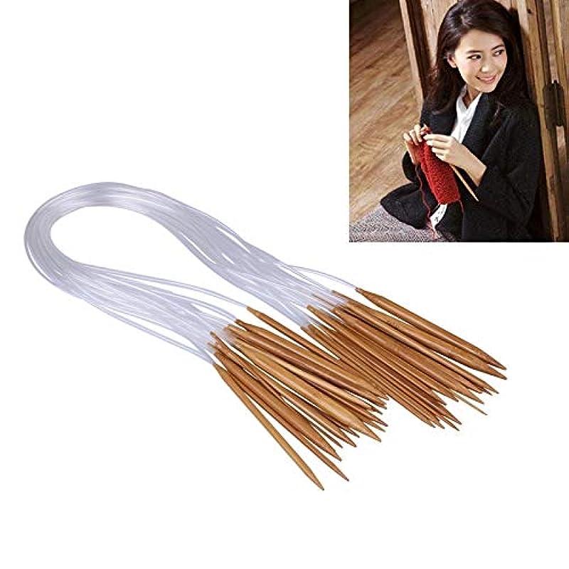 セグメントエラーペレットLIJIAN 長さ:100 cm、18 in 1 /セット織りツールセーター針結晶チューブ炭化竹環状針セーター編み針