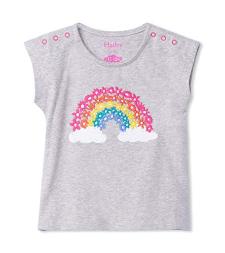 Hatley Short Sleeve T-Shirts, Gris (Magical Rainbow 020), 3-6 Mois Bébé garçon