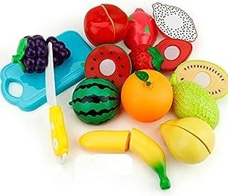 SaleOn Set of 8 Kitchen Food Fruit Vegetable Cutting Toys Educational Toy Safety Children Kitchen Toys Sets Fruit Cutter (...