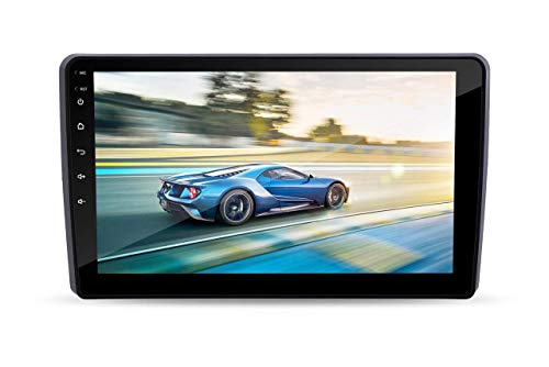 Auto Snap 9 Inch Full HD 1080 Touch Screen Double Din Player Android 10.1 Gorilla Glass IPS Display Car Stereo with GPS/Wi-Fi/Navigation/Mirror Link Compatible for Mahindra Marazzo Free 8 LED Camera